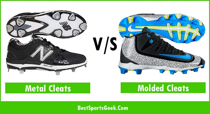 meal vs molded baseball cleats